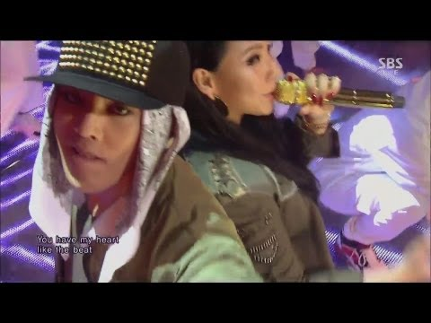 G-DRAGON_0929_SBS Inkigayo_R.O.D (Feat. CL) + 삐딱하게_No.1 of the week