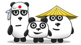 ТРИ ПАНДЫ / Приключение на острове в Японии в мультяшной игре для детей #ПУРУМЧАТА