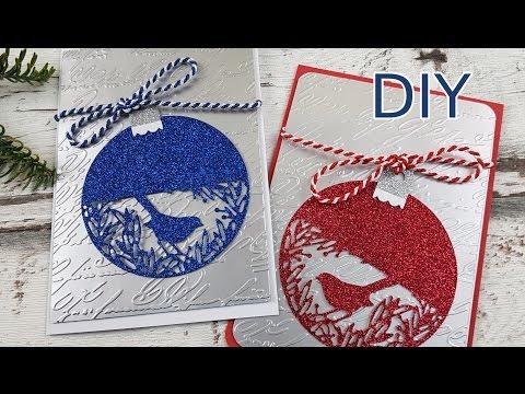 anleitung edle weihnachtskarten einfach schnell selber basteln diy cardmaking tutorial in deutsch. Black Bedroom Furniture Sets. Home Design Ideas