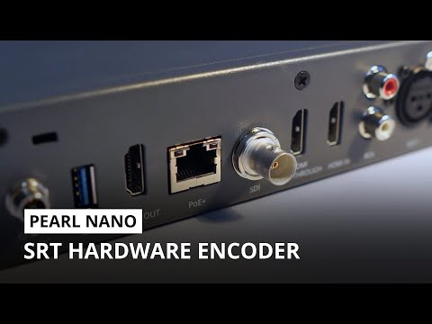 Best SRT encoder: Pearl Nano for remote video production