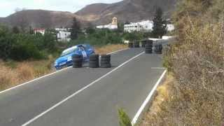 preview picture of video 'II cronometrada rally villa de nijar 2012 accidente 2'
