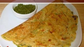 Besan Puda – Cheela (Gram Flour Dosa) Recipe by Manjula