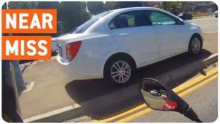 Insane Near Miss | Motorcyclist Almost Gets Nailed