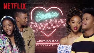 Shooting your shot never looked so fun. The cast of #BloodAndWater show us just how to get down in the DMs. Watch as #Thabang Molaba and #Dillon Windvogel try to impress the girls - who would Ama and Khosi pick? Well there is a twist!  Subscribe: https://bit.ly/2SpsrJ1  About Netflix:  Netflix is the world's leading streaming entertainment service with 183 million paid memberships in over 190 countries enjoying TV series, documentaries and feature films across a wide variety of genres and languages. Members can watch as much as they want, anytime, anywhere, on any internet-connected screen. Members can play, pause and resume watching, all without commercials or commitments.   https://www.twitter.com/netflixSA https://www.instagram.com/NetflixSA https://www.Facebook.com/NetflixSouthAfrica  Thabang & Dillon try to Flirt with Ama & Khosi | Blood & Water | Netflix https://youtube.com/NetflixSouthAfrica  After crossing paths at a party, a Cape Town teen sets out to prove whether a private-school swimming star is her sister who was abducted at birth.