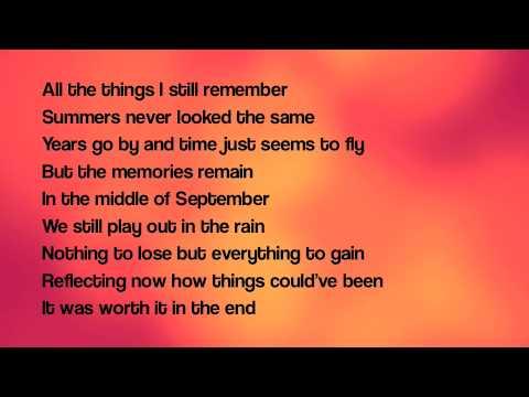 September lyrics By Daughtry