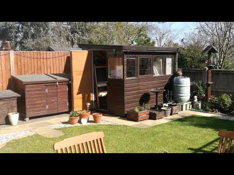 Thumbnail of How to paint In your garden. A garden shed using watercolour
