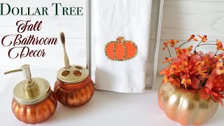Dollar Tree DIY Fall Bathroom Decor
