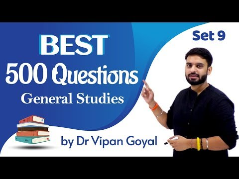 Best 500 Questions General Studies ISet 9 | Dr Vipan Goyal I Finest MCQs for all exams