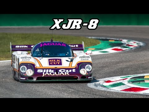 1987 Jaguar XJR-8 - V12 fly-by's, downshifts & flames (Spa + Monza 2019)