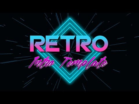 Free to use, retrowave intro template (no text) - смотреть онлайн на