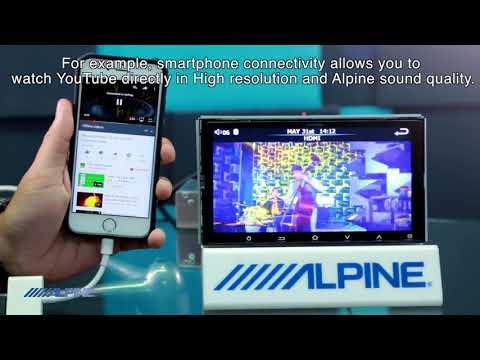 Alpine IXE-W400E 7 inch Double DIN HDMI USB Multimedia Receiver (No DVD)