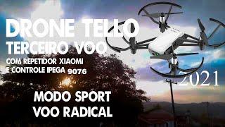 DRONE TELLO 2021 - VÔO RADICAL - TESTANDO O MODO SPORT E CONTROLE IPEGA 9076