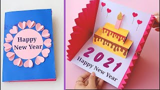 How to make New Year 3D Pop Up Card    Handmade Easy Greetings Card for Happy New Year 2021