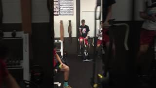 Mannequin challenge from Sandy high school weights!
