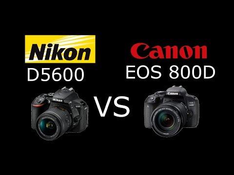 Hands-on Review - Canon T7i (800D) vs Nikon D5600 - смотреть