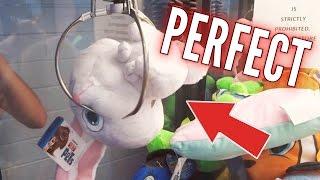 PERFECT CLAW MACHINE WINS AT WALMART! | Arcade Games