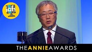 Katsuhiro Otomo Receives Winsor McCay at the 2014 Annie Awards