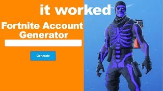 I used a NEW Fortnite account generator and got this...