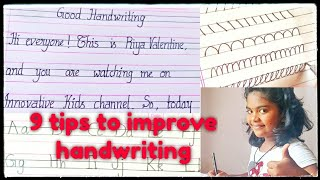 Tips for good handwriting || How to improve our handwriting
