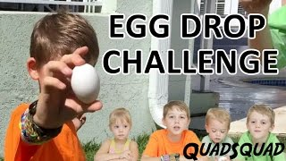 EGG DROP CHALLENGE!  Try not to break it!