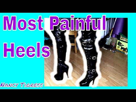 Pleaser Thigh High Heel Boots Shoe Review #highheels #shoereview #boots #heels