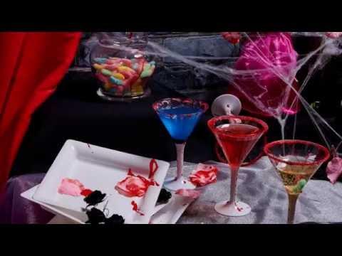 Bunte Halloween Cocktails