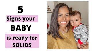 5 signs your baby is ready for solids | introducing solids