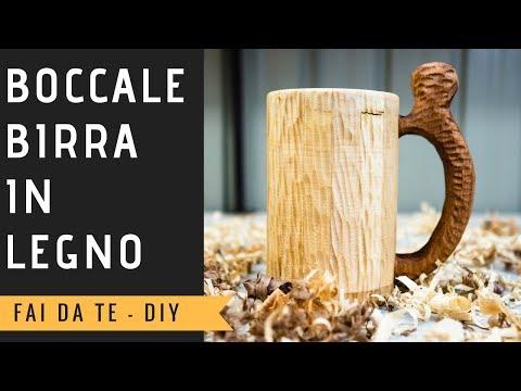 Boccale per la Birra in legno - DIY Wooden Beer Mug