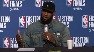 Kevin Love and LeBron James Postgame Interview   Celtics vs Cavaliers Game 3 - Video Youtube