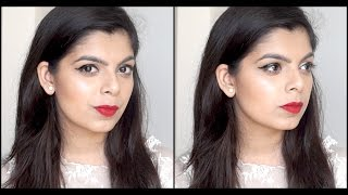 Image for video on Party Makeup Look | Beginner's Friendly | Classic Winged Eye & Red Lips by Aditi Singh
