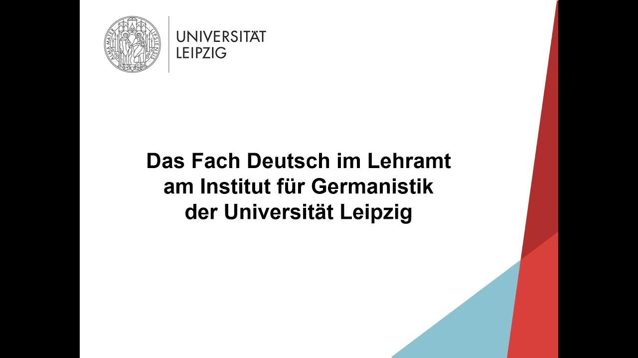 Das Fach Deutsch im Lehramt am Institut für Germanistik