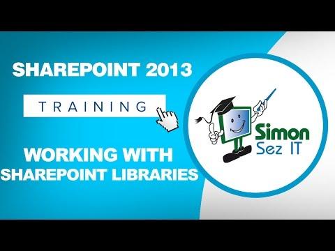 Microsoft SharePoint 2013 Training Tutorial - Working With ...