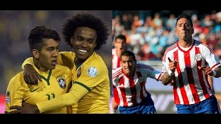 Copa America 2015 Brazil vs Paraguay Highlights and Goals 1-1 (3-4)