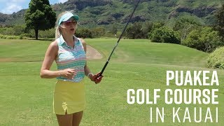 PUAKEA BACK NINE COURSE VLOG // BEAUTIFUL RESORT QUALITY PUBLIC COURSE IN HAWAII