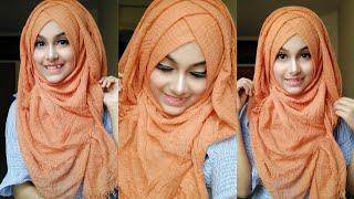 Without Inner Cap Summer Hijab Tutorial    Noshin Nower ❤