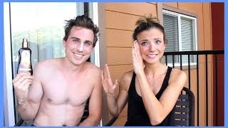 DOES TANNING LOTION REALLY WORK? FT. LANDON AUSTIN