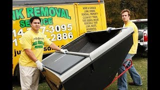 How to remove and dispose a Projection TV in Allen Texas / DfwjunkGuys.com
