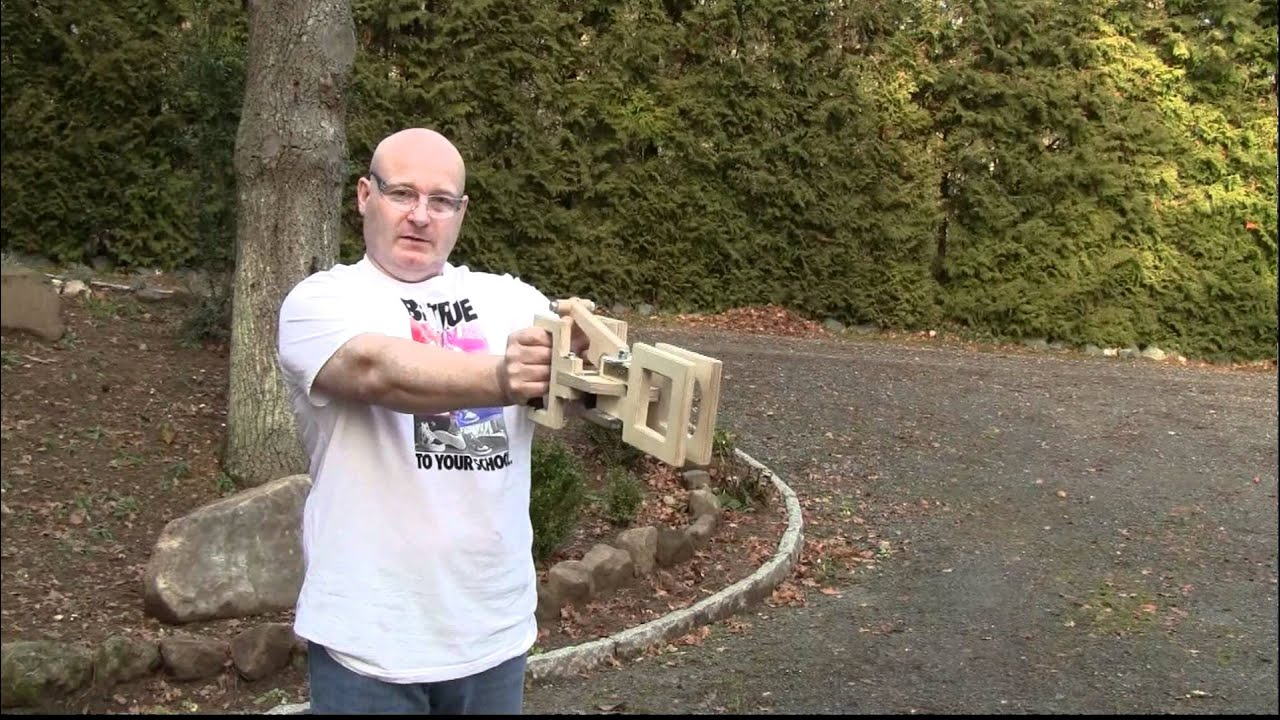 "Watch A Massively Powerful ""Walkback"" Slingshot Shoot Cannonball-Sized Ammo"