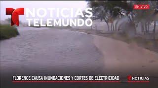 El mar se sale de su cauce en Carolina del Norte   Noticiero   Telemundo