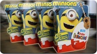 Die Minions 4 x 4er Pack Kinder Überraschung Unboxing