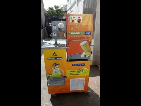 4 Roller Heavy Duty Sugarcane Juice Machine with Instant Chiller