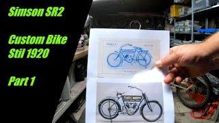 Simson SR2  ||  Custom Bike || Part 1 || neues Projekt