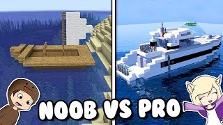 BARCO NOOB VS PRO EN MINECRAFT | BOTE VS YATE