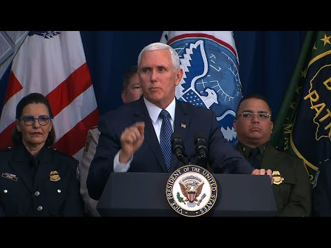 Vice President Mike Pence toured a Customs and Border Protection training facility in West Virginia Wednesday. He thanked border agents for protecting the country and called on Congress to approve President Trump's border emergency declaration. (March 13)