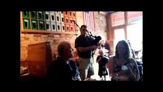 McGuire's Pipe Band visits The Black Rose Public House 2015