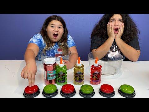 Don't Push the Wrong Christmas Button Slime Challenge