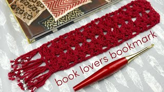 How to Crochet the Book Lovers Bookmark