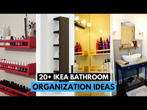20 Brilliant IKEA Bathroom Organization Ideas
