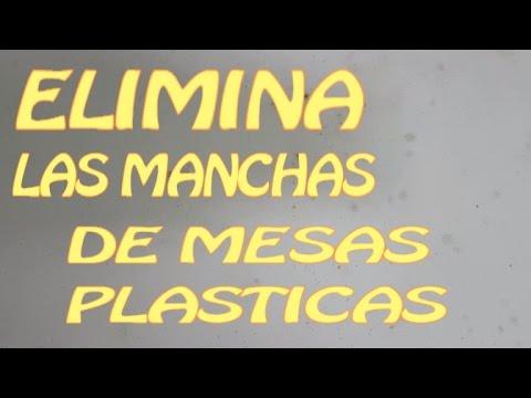 Blanquear y quitar manchas de moho y suciedad en mesas de plástico de terraza