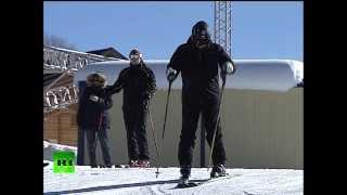 Владимир Путин прокатился на лыжах в Сочи